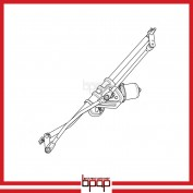 Wiper Transmission Linkage with Motor Assembly - WABA03